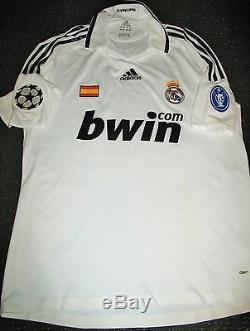 Authentic Raul Real Madrid MATCH WORN Jersey 2008 2009 Shirt Camiseta Spain