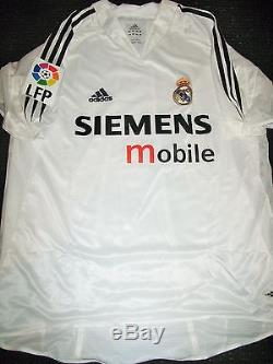 Authentic Real Madrid Raul Adidas Jersey Player Issue Camiseta 2004 2005 Shirt