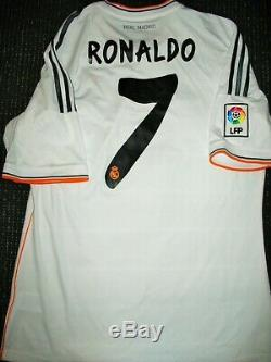 Authentic Real Madrid Ronaldo 2013 2014 Jersey Camiseta Shirt Maglia Trikot L