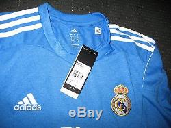 Authentic Real Madrid Ronaldo Blue 2014 2015 Jersey Camiseta Shirt Size L NEW