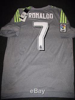 Authentic Real Madrid Ronaldo Gray 2015 2016 Jersey Camiseta Shirt Size L NEW
