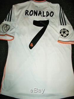 Authentic Real Madrid Ronaldo UEFA 2013 2014 Jersey Camiseta Shirt Maglia M