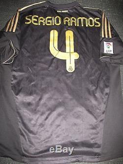 promo code 4ab67 ff199 Authentic Real Madrid Sergio Ramos Black Gold 2011 2012 ...