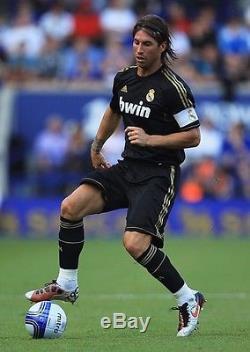 Authentic Real Madrid Sergio Ramos Black Gold 2011 2012 Jersey Camiseta Shirt