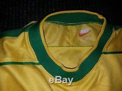 Authentic Ronaldo Brazil 1998 WC Jersey Shirt Camiseta Real Madrid Barcelona M