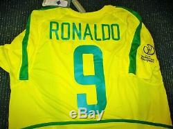 Authentic Ronaldo Brazil 2002 WC Jersey Shirt Camiseta Real Madrid Barcelona L