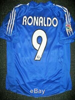 Authentic Ronaldo Real Madrid Jersey 2004 2005 Camiseta Shirt Barcelona L