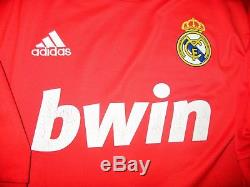 Authentic Ronaldo Real Madrid UEFA CL Jersey 2011 2012 Red Camiseta Shirt L