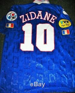 Authentic Zidane France 1996 EURO Jersey Real Madrid Maillot Shirt Juventus XL