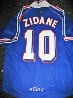 Authentic Zidane France 1998 WC Jersey Real Madrid Maillot Shirt Juventus M