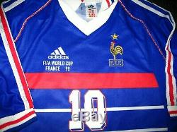 Authentic Zidane France 1998 WC Jersey Real Madrid Maillot Shirt Juventus XL