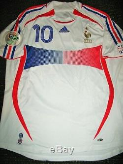 Authentic Zidane France 2006 WC LAST GAME Jersey Real Madrid Maillot Shirt L