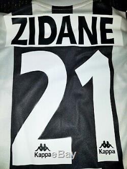 Authentic Zidane Juventus Kappa 1996 1997 Long Sleeve Jersey Shirt Real Madrid L