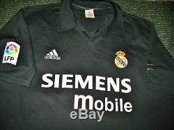 Authentic Zidane Real Madrid CENTENARY Jersey Shirt 2002 2003 France Camiseta XL