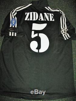 Authentic Zidane Real Madrid Jersey 2001 2002 Shirt Camiseta France Juventus L