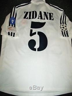 more photos e7f13 c7622 Authentic Zidane Real Madrid Jersey 2002 2003 Shirt Camiseta ...