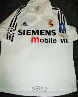 Authentic Zidane Real Madrid Jersey 2002 2003 Shirt Camiseta France Maillot M