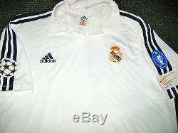 Authentic Zidane Real Madrid Jersey Shirt 2001 2002 France Camiseta Maillot L