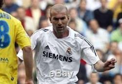 Authentic Zidane Real Madrid LAST GAME Jersey Shirt 2005 2006 France Camiseta XL
