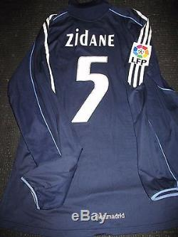 Authentic Zidane Real Madrid Match Issue Jersey 2005 2006 Shirt Camiseta Maillot