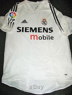 Authentic Zidane Real Madrid PLAYER ISSUE Jersey 2004 2005 Camiseta Shirt Juve M