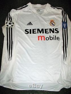 Authentic Zidane Real Madrid UEFA Jersey 2004 2005 Camiseta Shirt France Maillot