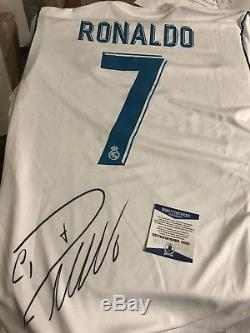 Autographed Christiano Ronaldo Official Real Madrid Spain Jersey Beckett Signed