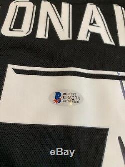 Autographed/Signed CRISTIANO RONALDO Real Madrid Black Jersey Beckett BAS COA