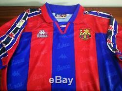BARCELONA home 1996-97 shirt RONALDO # 9-Brazil-Kappa-Real Madrid-Jersey-Milan