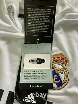 BNWT AUTHENTIC Adidas Real Madrid Home L Beckham 23 jersey shirt maglia camiseta