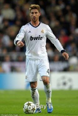 BNWT Real Madrid 2012/2013 Home Shirt Jersey L/S Long Sleeve Ramos Official M