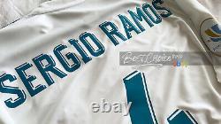 BNWT Real Madrid Official Shirt 17-18 Sergio Ramos Supercopa Long Sleeve Jersey