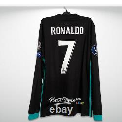 BNWT Real Madrid Official Shirt 2017 2018 Ronaldo Super Cup Long Sleeve Jersey