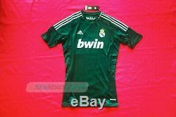 BNWT Techfit PowerWeb Real Madrid 2012 2013 green jersey formotion maglia XL S