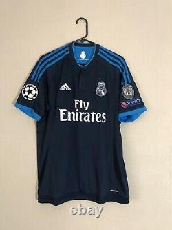 Bale #11 Real Madrid 2015/16 Champions League Large 3rd Shirt Jersey Adidas BNWT