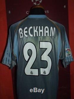 Beckham Real Madrid 2003/2004 Maglia Shirt Calcio Football Maillot Jersey Soccer