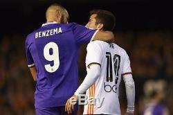 Benzema signed Real Madrid Match Worn Jersey