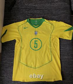 Brazil Jersey 2004/05 Match Worn Brasil Trikot Emerson Juve Real Madrid Gremio