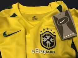 Brazil Soccer Jersey Ronaldo Season 2002-2004 Barcelona Real Madrid Mexico USA