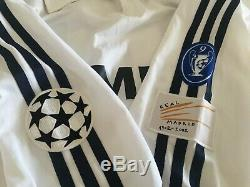CAMBIASSO Real Madrid 2002/03 Adidas Home Football Shirt M Soccer Vintage Jersey