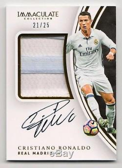 CRISTIANO RONALDO 2017 Immaculate REAL MADRID Jersey PATCH Autograph AUTO #21/25