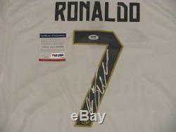 CRISTIANO RONALDO Hand Signed REAL MADRID Soccer Jersey + PSA DNA COA