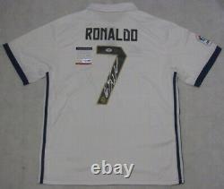 CRISTIANO RONALDO Hand Signed Soccer Jersey+ PSA DNA BUY GENUINE REAL MADRID