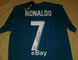 CRISTIANO RONALDO autographed signed 2018 Real Madrid 3rd jersey PROOF Portugal