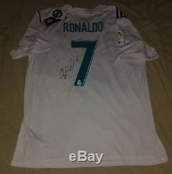 CRISTIANO RONALDO autographed signed 2018 Real Madrid Home jersey PROOF Portugal