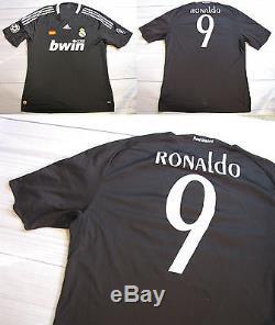 sports shoes 4e67a 09e73 C. RONALDO #9 REAL MADRID jersey shirt ADIDAS CHAMPIONS ...