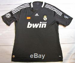 C. RONALDO #9 REAL MADRID jersey shirt ADIDAS CHAMPIONS LEAGUE 2009 men SIZE XL