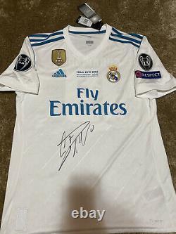 Camiseta Final kyiv Cristiano Ronaldo firmada Jersey Signed trikot real madrid