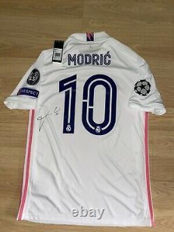 Camiseta Luka Modric Del Real Madrid Champions Firmada Handsigned Signed Jersey
