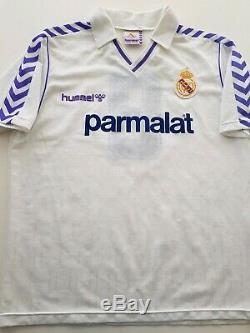 Camiseta Real Madrid 1988 Hummel 9 Match worn Hugo Sánchez shirt jersey México